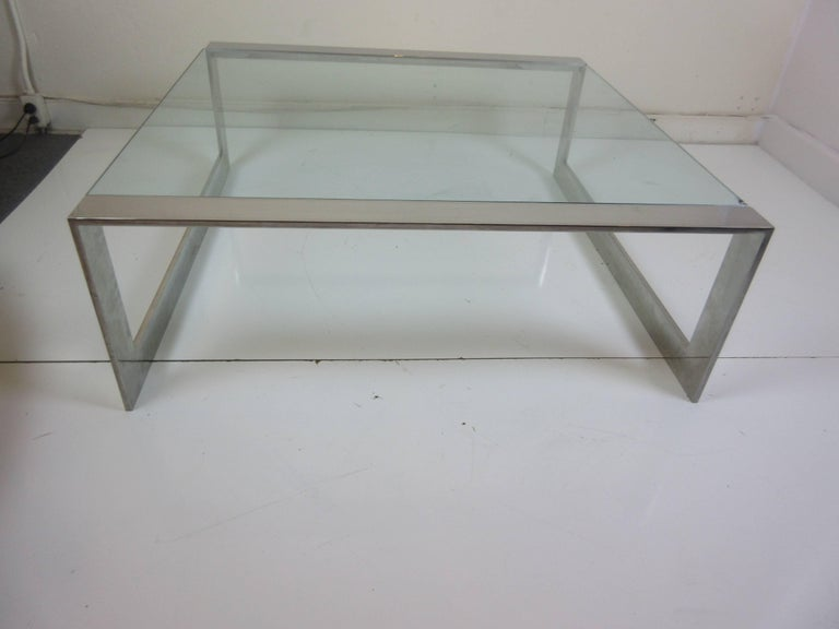Lee Rosen for Pace Aluminum and Glass Coffee Table 3