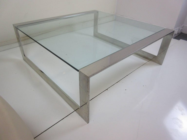 Lee Rosen for Pace Aluminum and Glass Coffee Table 6