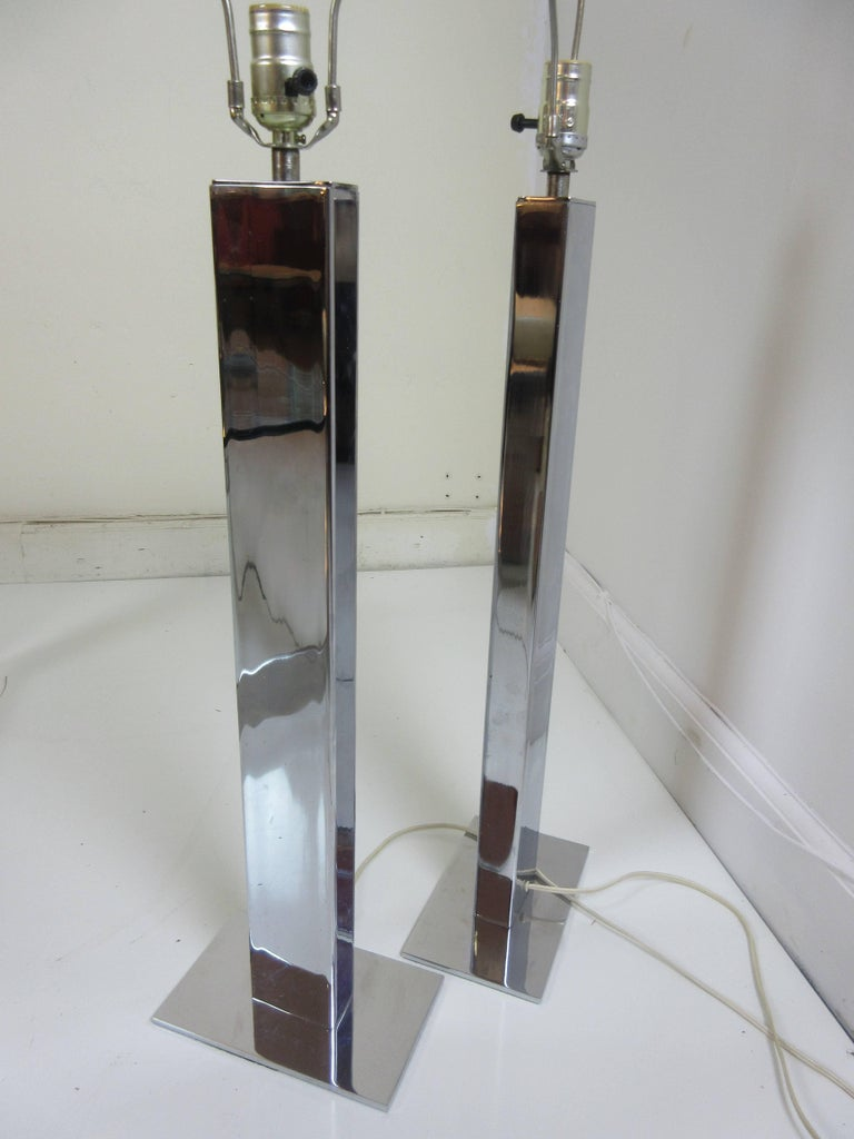 Chrome Skycraper Table Lamps by George Kovacs 2