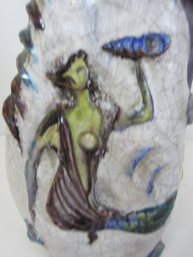 Marcello Fantony Chantal Monumental Mermaid Series Lamp For Sale 1