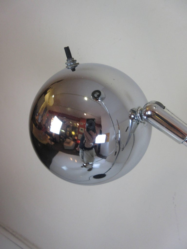 Mid-Century Modern Robert Sonneman Atomic Ball Chrome Floor Lamp For Sale