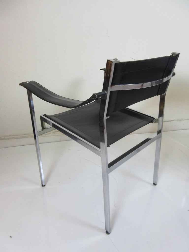 1970s Italian Leather Director S Chairs At 1stdibs