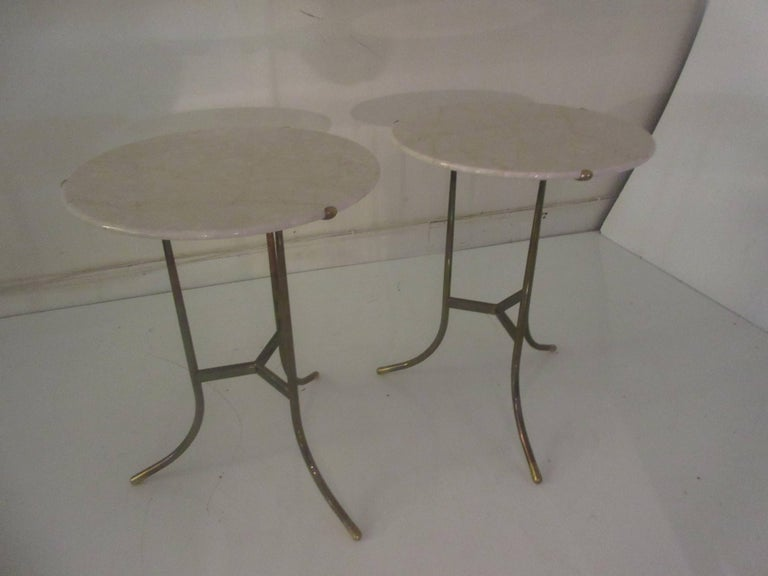Cedric Hartman Marble and Brass End Tables 3