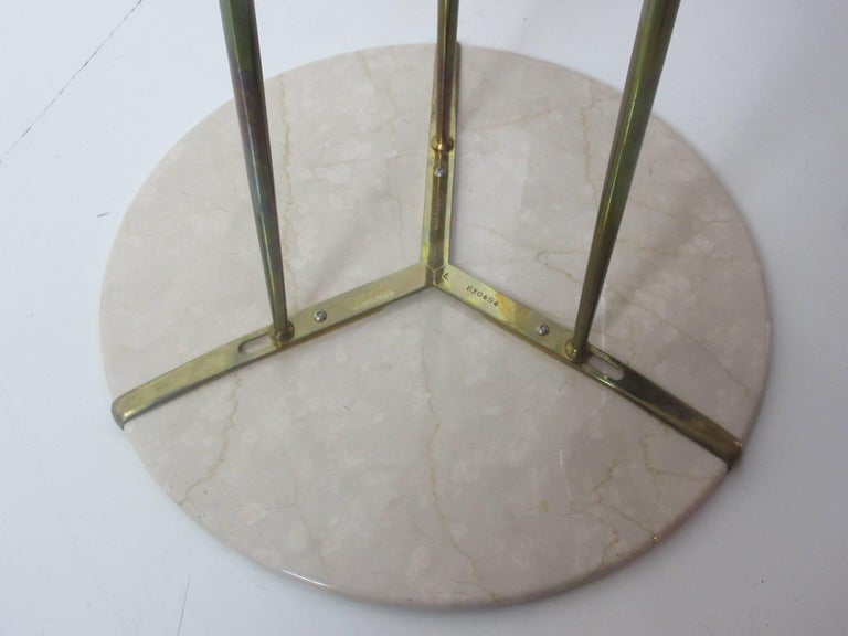 Cedric Hartman Marble and Brass End Tables 5