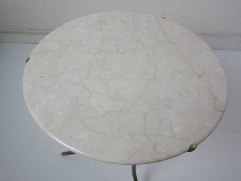 Cedric Hartman Marble and Brass End Tables 9