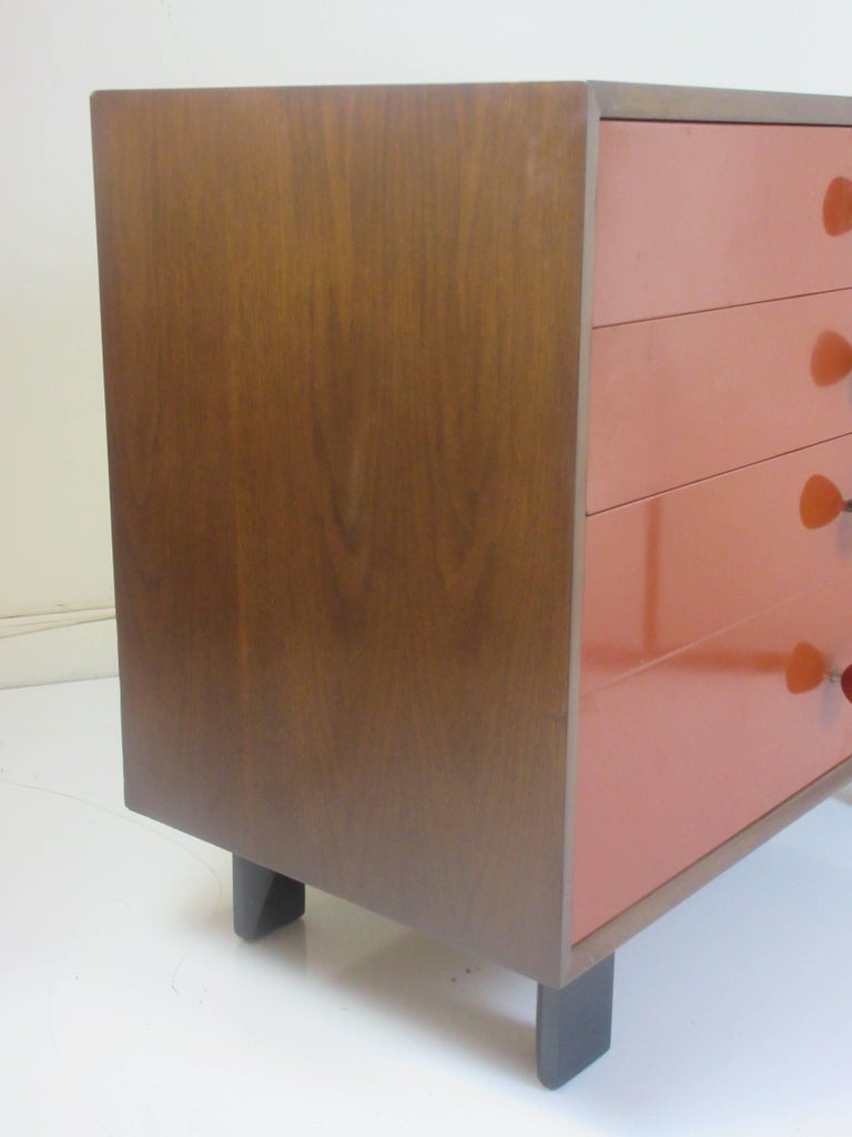 Mid-Century Modern George Nelson for Herman Miller Vanity Chest of Drawers in Walnut For Sale