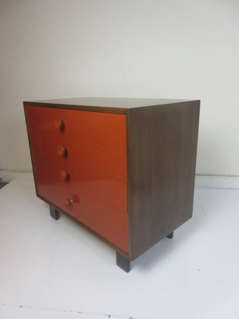 George Nelson for Herman Miller Vanity Chest of Drawers in Walnut For Sale 2