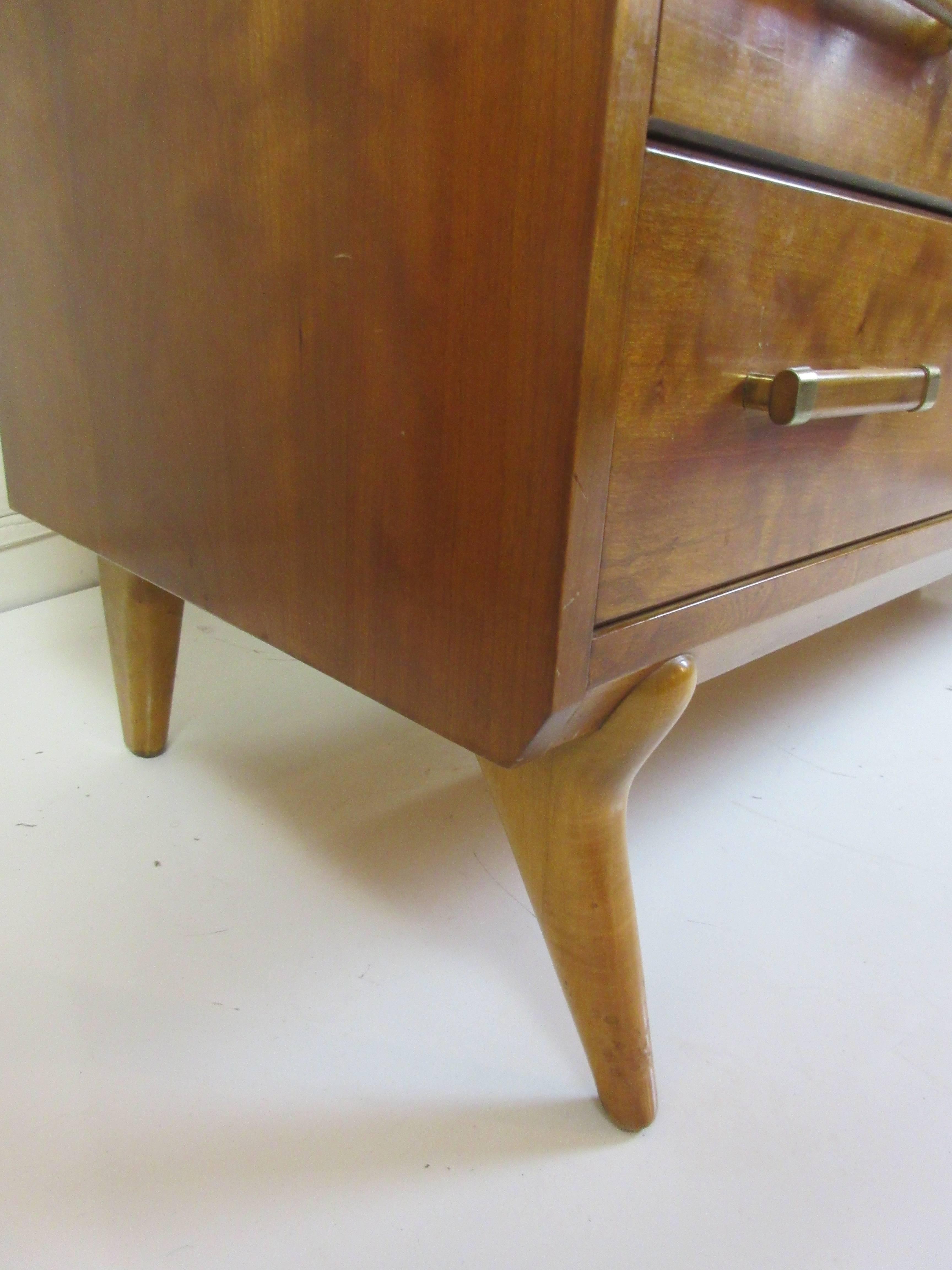 Mid Century Modern Renzo Rutili Johnson Furniture For John Stuart Dresser  For Sale