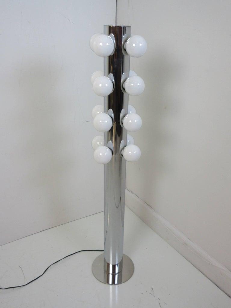 Chrome Robert Sonneman Floor Lamp For Sale