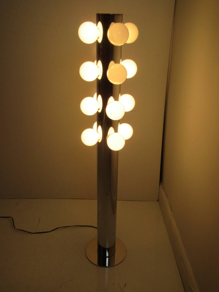 Mid-20th Century Robert Sonneman Floor Lamp For Sale