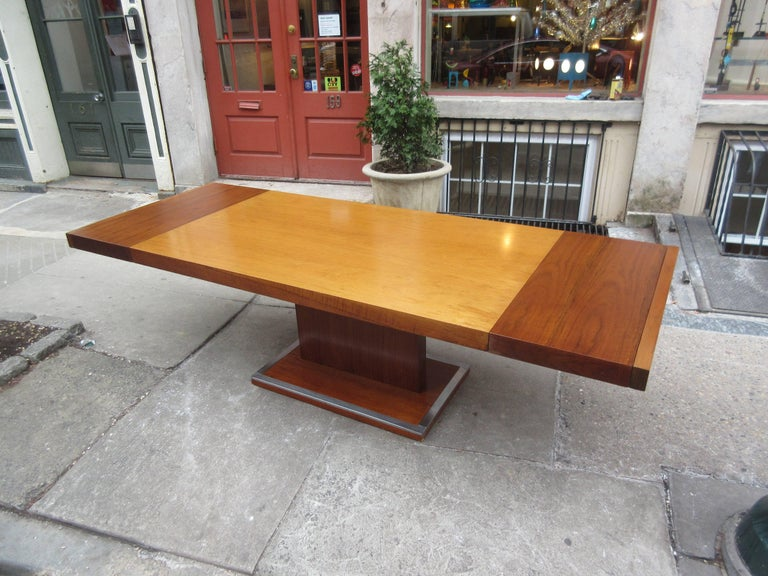 Aluminum Founders Dining Table by Milo Baughman For Sale