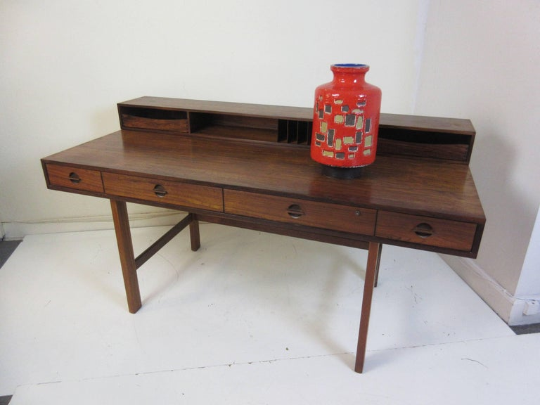 Scandinavian Modern Jens Quistgaard for Lovig in Rosewood Flip Desk For Sale