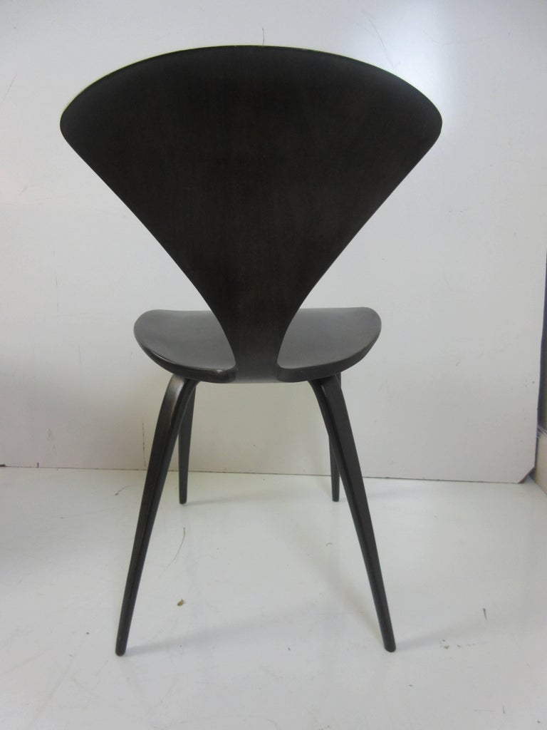 Norman Cherner Walnut Side Chairs, Set of Four 3