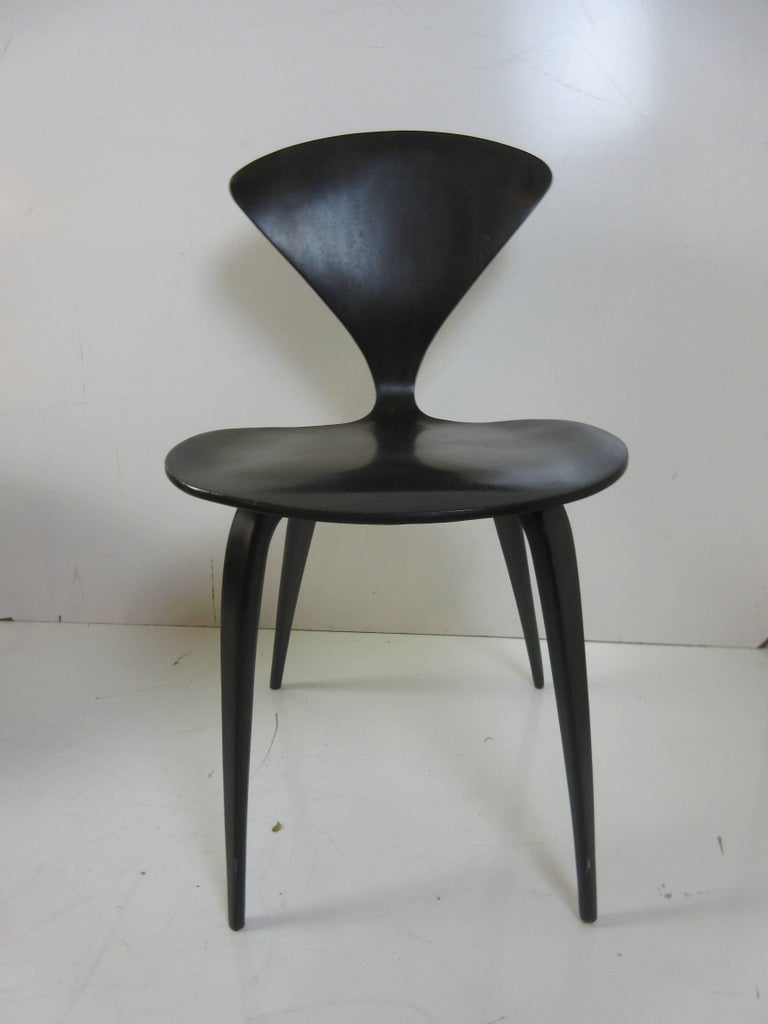 Norman Cherner Walnut Side Chairs, Set of Four 4