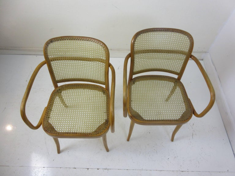 Early 20th Century Josef Hoffman Prague 811 Armchairs by Stendig For Sale