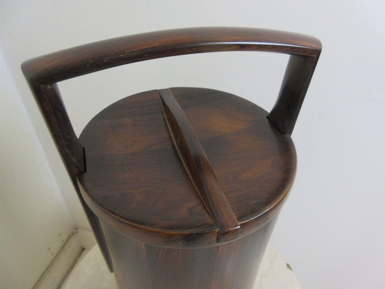 Jens Quistgaard for Dansk Rosewood Ice Bucket  2