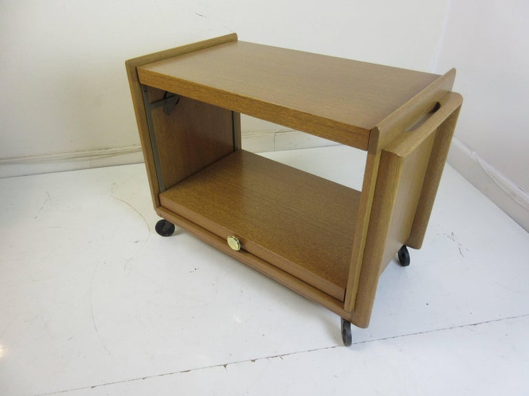 Brown and Saltman John Keal Rolling Bar or Tea Cart 7