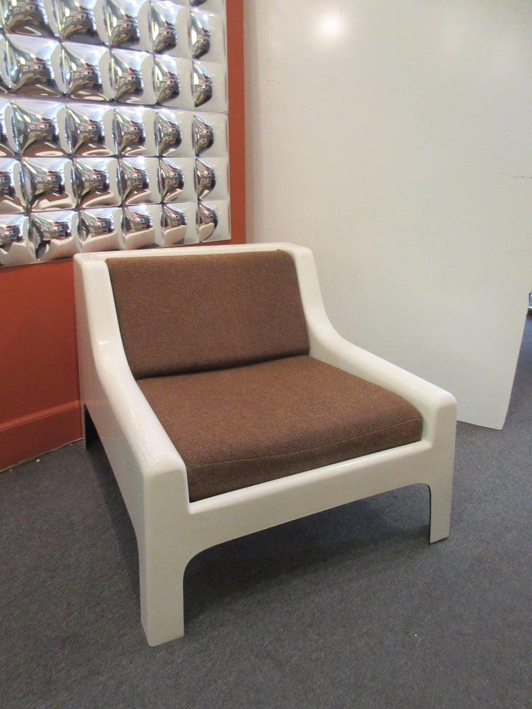 Italian Cappellini 1960s Fiberglass Sofa and Chair For Sale
