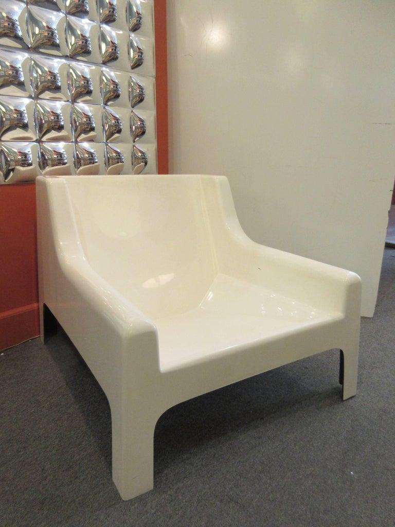 Cappellini 1960s Fiberglass Sofa and Chair For Sale 2