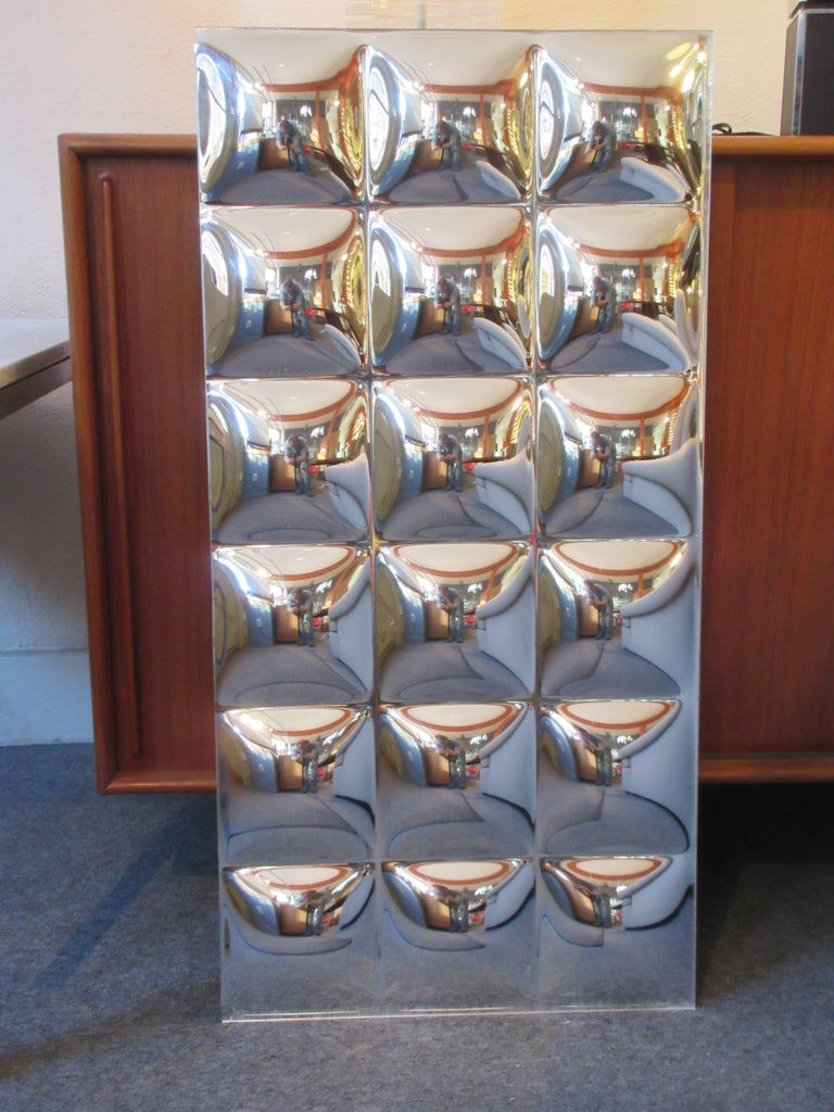 "Mid-20th Century 60's Bubble Mirrored Panels/   28 18"" x 36"" panels available! For Sale"