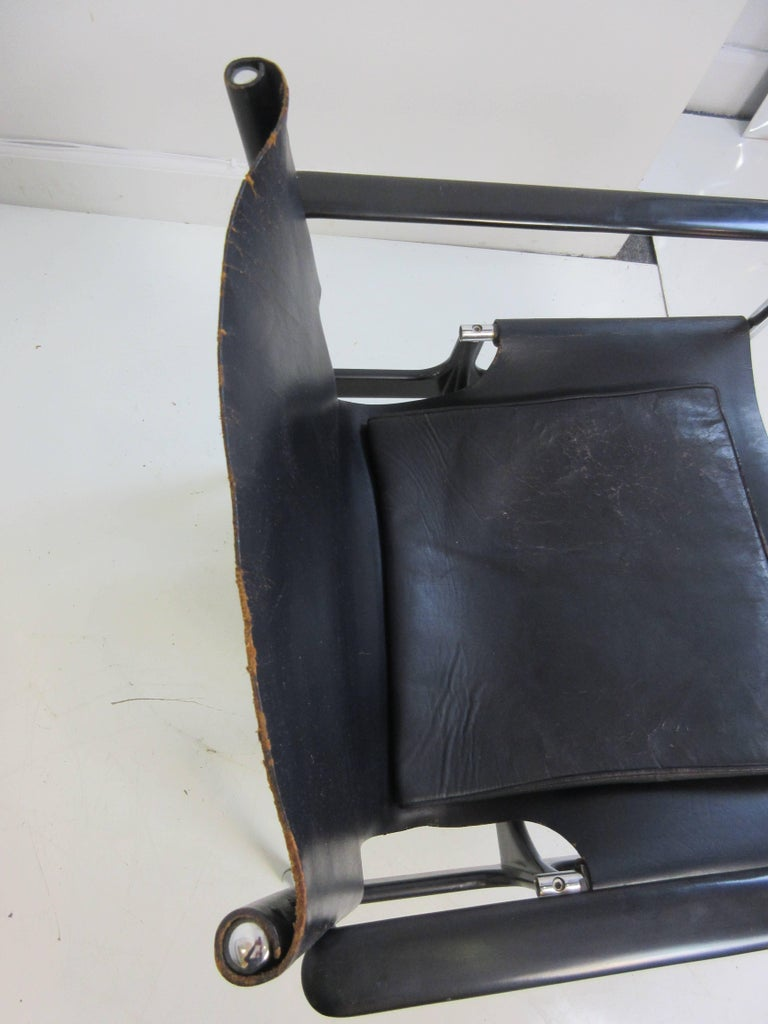 Mid-20th Century Charles Pollack 657 Knoll Sling Chair For Sale
