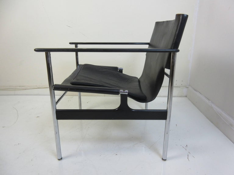 Mid-Century Modern Charles Pollack 657 Knoll Sling Chair For Sale