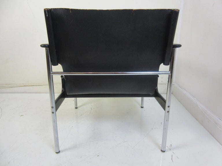 American Charles Pollack 657 Knoll Sling Chair For Sale