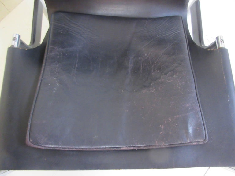 Charles Pollack 657 Knoll Sling Chair In Excellent Condition For Sale In Philadelphia, PA