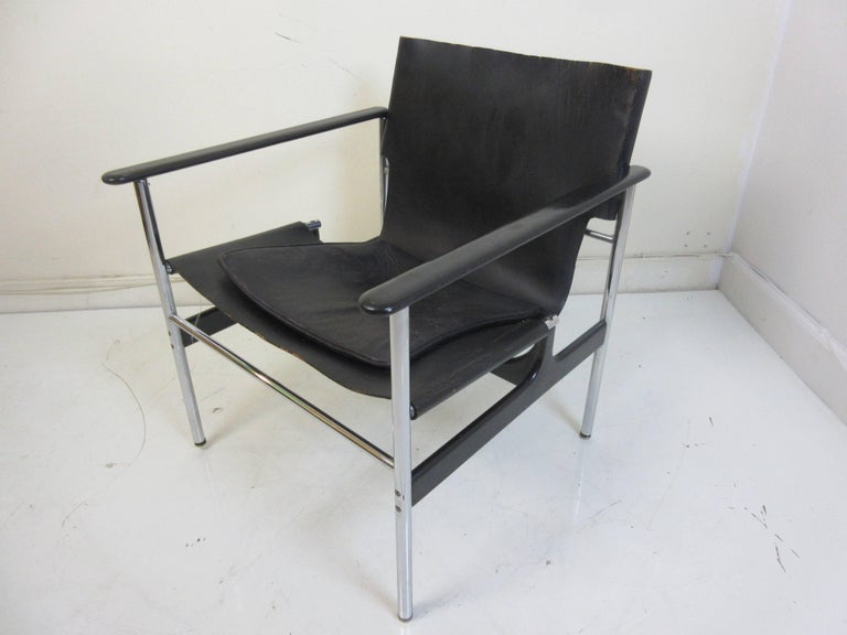 Charles Pollack 657 Knoll Sling Chair For Sale 3