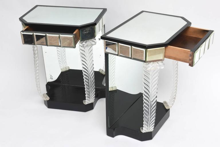 American Grosfeld House 'Glassics' End Tables or Night Stands For Sale