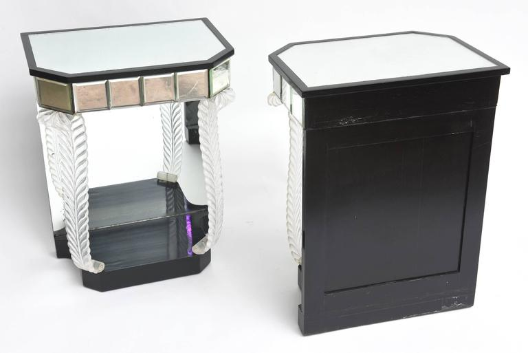 Grosfeld House 'Glassics' End Tables or Night Stands In Good Condition For Sale In West Palm Beach, FL