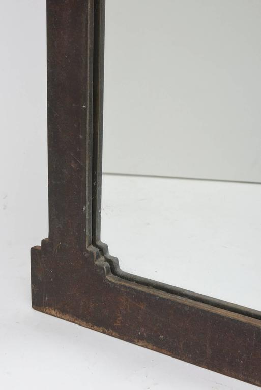 Hand-Forged and Cut Steel Console and Mirror For Sale 4