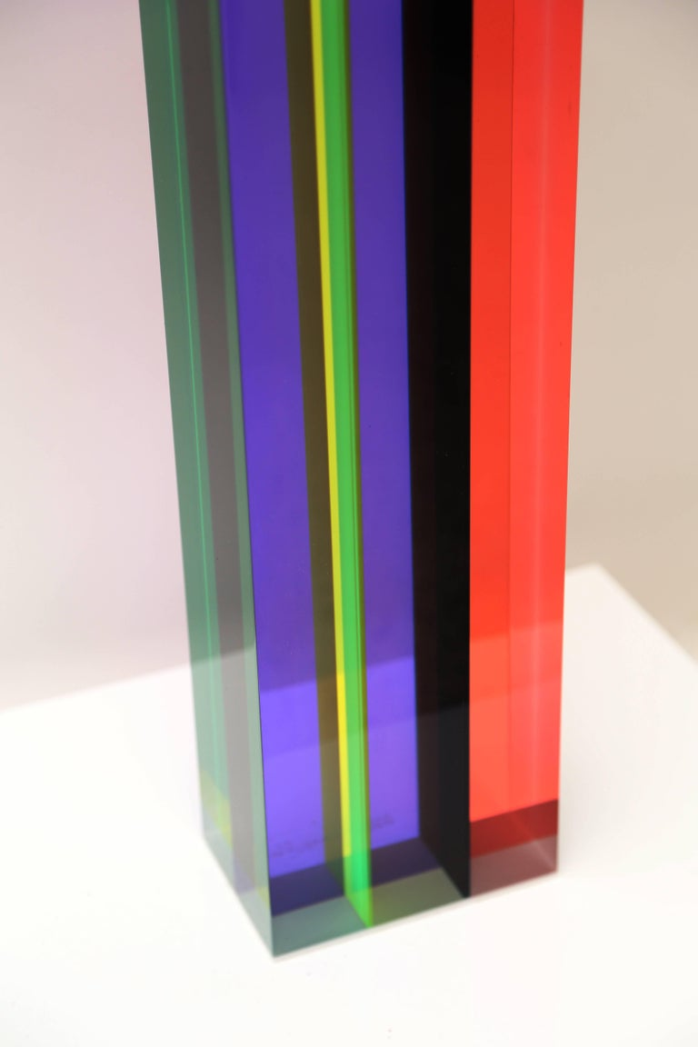 Acrylic Vasa Mihich Sculpture Tower For Sale