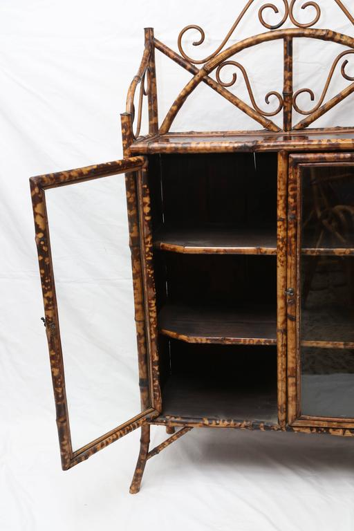 19th Century English Bamboo Cabinet or Bookcase For Sale 3
