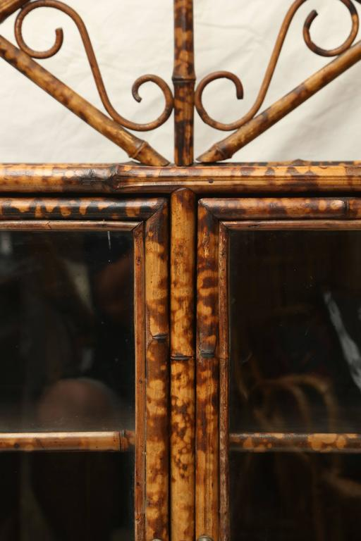19th Century English Bamboo Cabinet or Bookcase For Sale 5