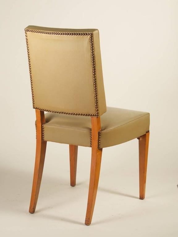 maxime old set of six dining chairs in ash for sale at 1stdibs