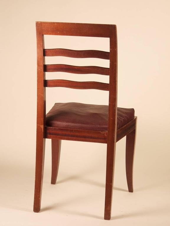 Paul Frechet Set of Six Mahogany Dining Chairs In Good Condition For Sale In Philadelphia, PA
