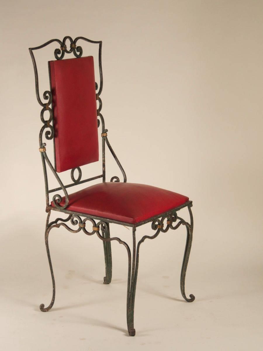 Iron Dining Room Chairs - Furniture Black Iron Dining ...