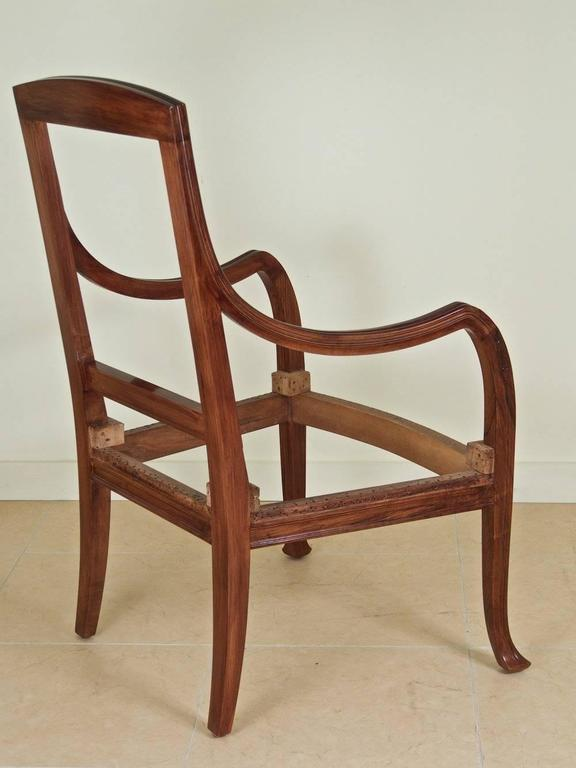 Early 20th Century Abel Landry Pair of Art Nouveau Armchairs For Sale