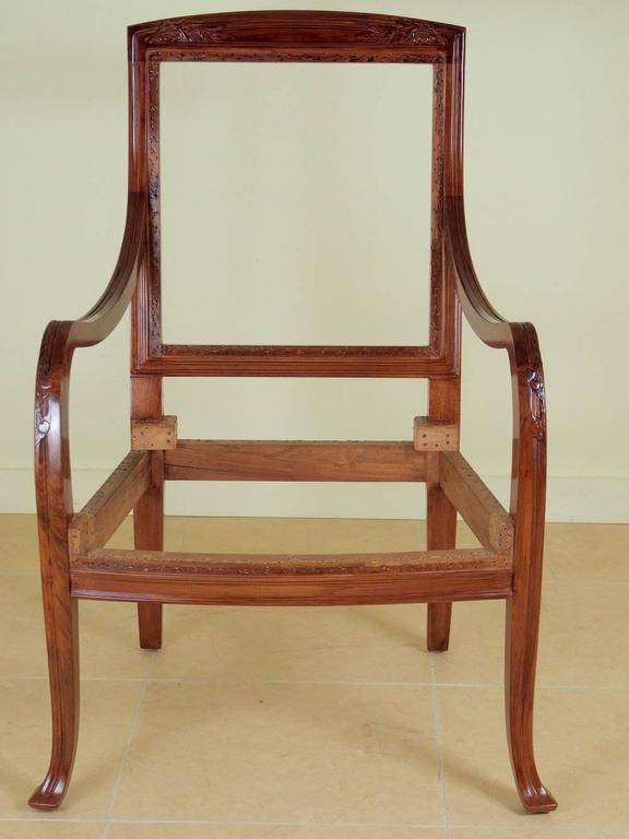 Abel Landry Pair of Art Nouveau Armchairs In Excellent Condition For Sale In Philadelphia, PA