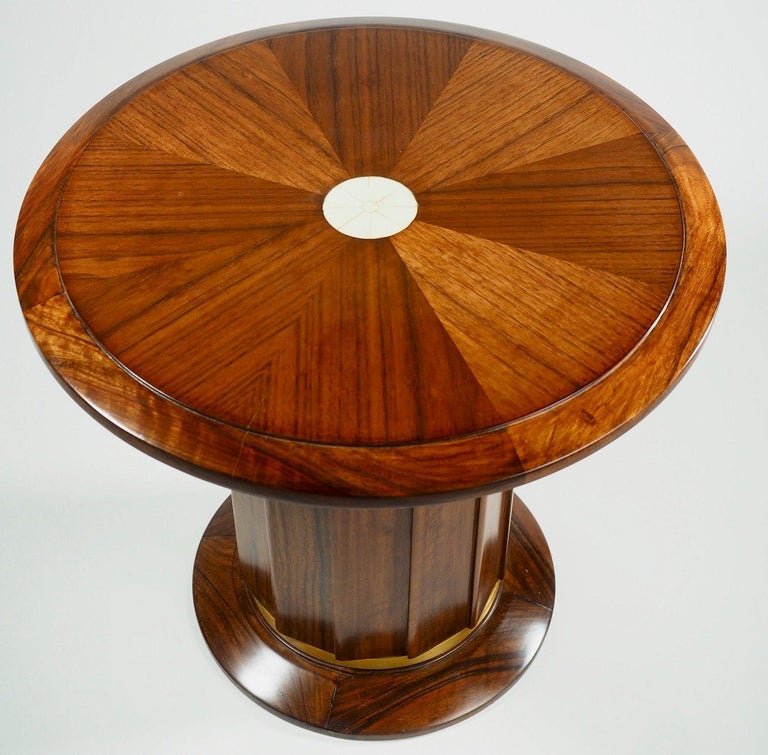 French Dominique Modernist Rosewood Side Table For Sale