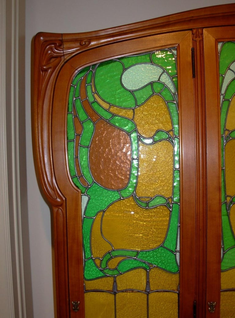 French Art Nouveau cabinet by Edouard Colonna, 1900-1901, identified in numerous period sources as Bibliotheque Victor Hugo. It is 57