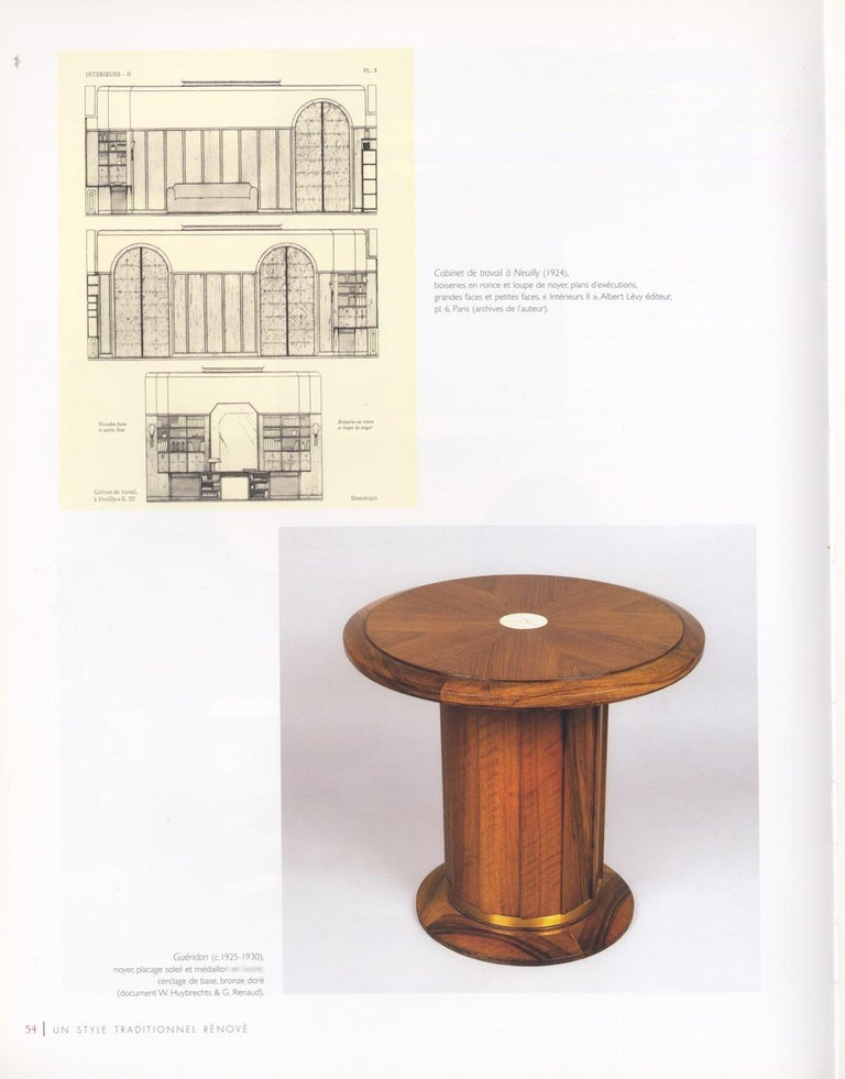 Early 20th Century Dominique Modernist Rosewood Side Table For Sale