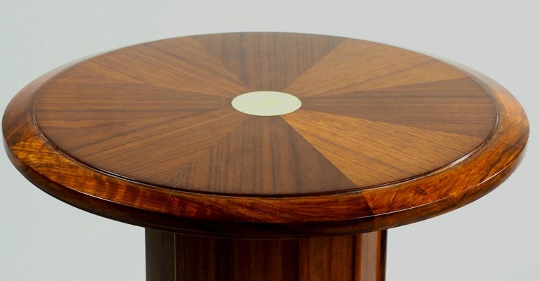 Art Deco Dominique Modernist Rosewood Side Table For Sale