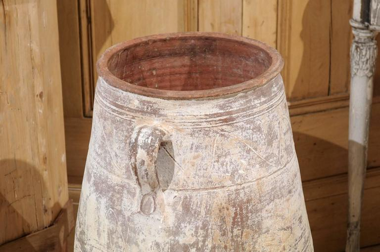 Mid Century White Greek Terracotta Pot For Sale At 1stdibs