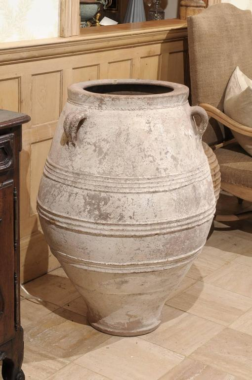 Mid century large white greek terracotta pot for sale at for Terracotta works pots