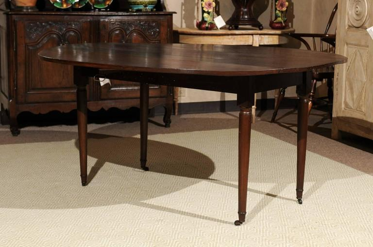 19th century french walnut drop leaf table circa 1860 for for Table insert th