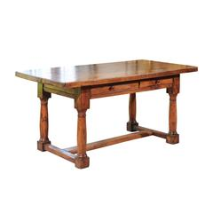 19th Century Pale Walnut Work Table from France