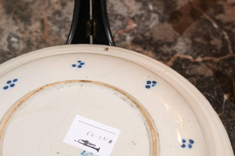 17th Century Blue Delft Charger, circa 1690 For Sale 5