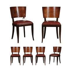 Set of Six Art Deco Chairs, circa 1930